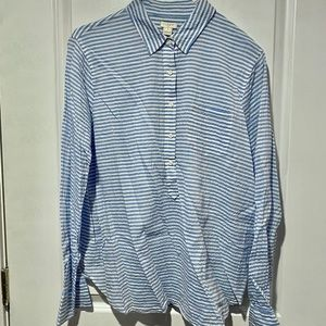 J. Crew Striped Button Down